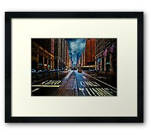 It's Raining On Park Avenue Framed Print