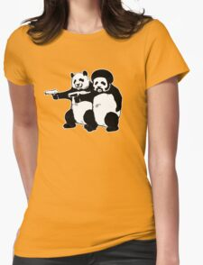 Funny! Pulp Pandas Womens Fitted T-Shirt
