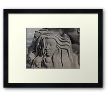 Sand Portraits - Retratos En Arena Framed Print