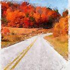 Arkansas Roadway  ~  Watercolor by Carolyn Wright