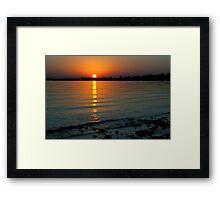 Settling Sun Framed Print