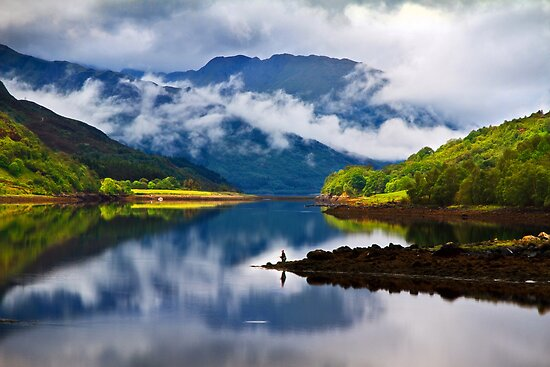 Loch Leven Reflections. North West Highlands. Scotland. by PhotosEcosse