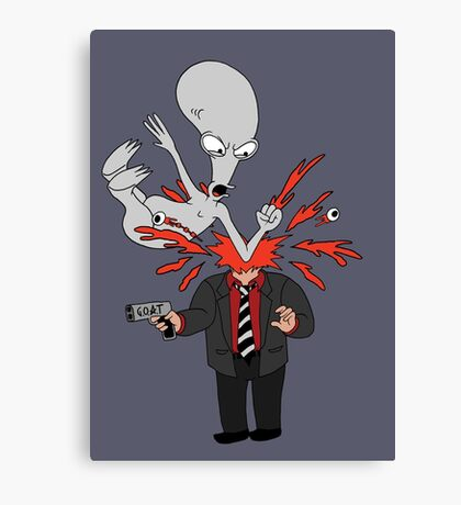 AMERICAN DAD - ROGER SLAM Canvas Print