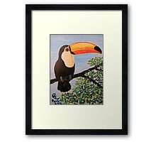 Balance That Beak Framed Print
