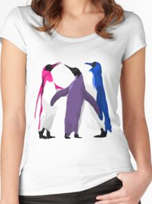 Bisexual Pride Penguins Women's Fitted Scoop T-Shirt