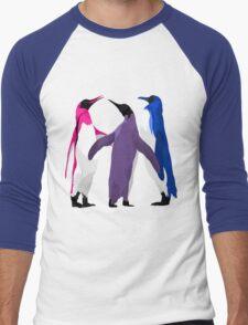 Bisexual Pride Penguins Men's Baseball ¾ T-Shirt