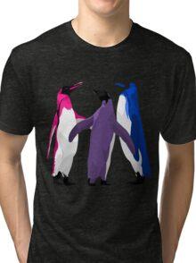 Bisexual Pride Penguins Tri-blend T-Shirt