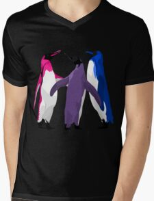 Bisexual Pride Penguins Mens V-Neck T-Shirt