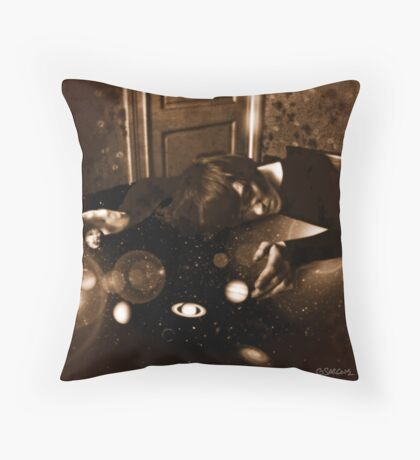 The Sleeping Juggler of Planets Throw Pillow