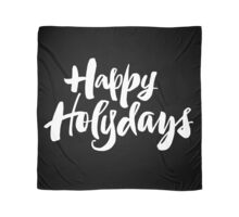 Modern Happy Holydays Holy Days Religious Christmas Holidays Hand Lettering - Black Scarf