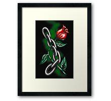 """""""Strength Rose"""" Framed Print"""