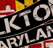 Elkton Maryland grunge scroll circle Sticker