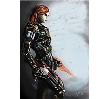 Our Commander Shepard Photographic Print