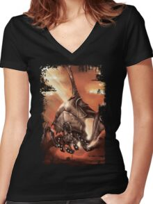 Reaper Destroyer Women's Fitted V-Neck T-Shirt