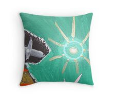 back to back 6 Throw Pillow