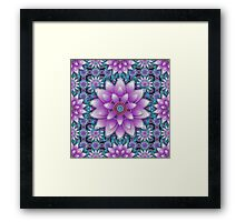 Embroidered purple&green Framed Print