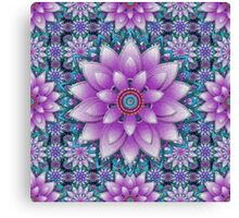 Embroidered purple&green Canvas Print