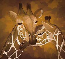 Two Giraffes by PaynesGrae