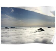 Sea of cloud, Fort William Poster