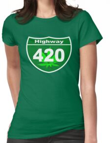 Highway 420 Womens Fitted T-Shirt