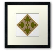 Fourth Infantry Division Insignia Framed Print