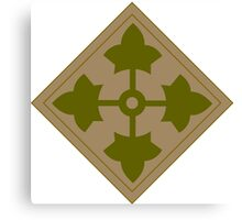 Fourth Infantry Division Insignia Canvas Print