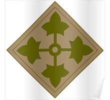 Fourth Infantry Division Insignia Poster