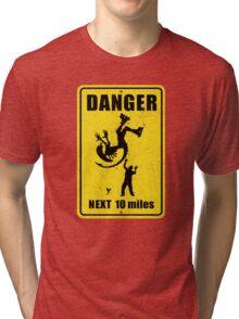 Danger! Complicated Death Ahead! Tri-blend T-Shirt