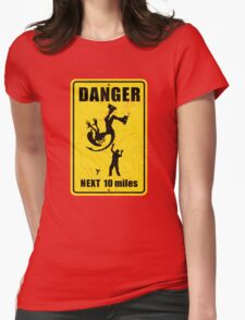 Danger! Complicated Death Ahead! Womens Fitted T-Shirt