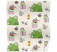 The Outdoors pattern Poster