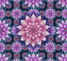 Embroidered pink&purple by Ivana Westin