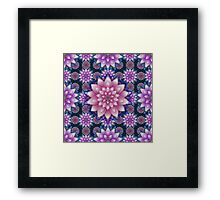 Embroidered pink&purple Framed Print