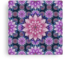 Embroidered pink&purple Canvas Print