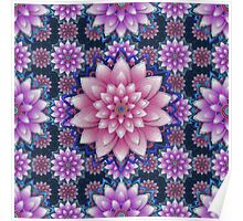 Embroidered pink&purple Poster