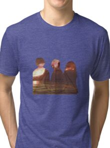 Harry Potter Trio Three Layered Photos Design Tri-blend T-Shirt