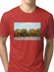 Green Lane Reservoir - East Greenville PA  - USA Tri-blend T-Shirt