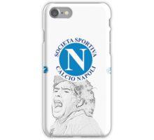 SSC Napoli with Maradona tribute iPhone Case/Skin