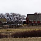 Old Homestead with Red Barn by Soulmaytz