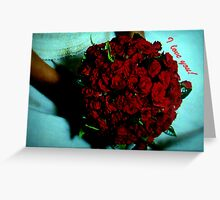 Roses  whose  tag price is love... Greeting Card