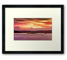 Denison's Fire Framed Print