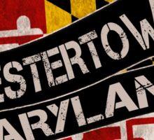 Chestertown Maryland grunge scroll circle Sticker