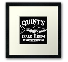 JAWS cool shark Framed Print