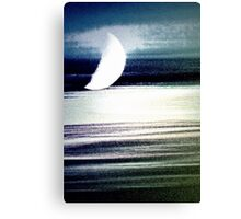 Moon Streaks Canvas Print