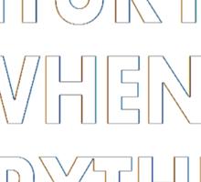 Torchwood - Everything Changes Sticker