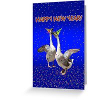 HAPPY NEW YEAR - Celebrating Geese Greeting Card