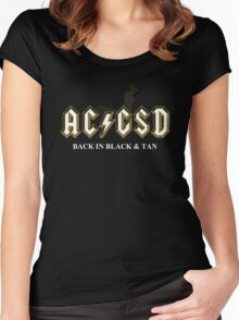AC/GSD Back in Black & Tan Women's Fitted Scoop T-Shirt