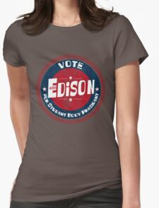 Vote Edison 2012 Womens Fitted T-Shirt