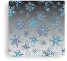 Embroidered Snowflakes on light Canvas Print