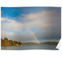 Hood Canal rainbow Poster