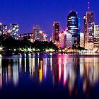 Before the Dawn - Brisbane City Australia by Beth  Wode